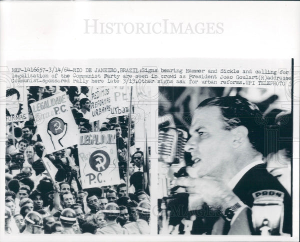 1964 Brazil President Joao Goulart Press Photo - Historic Images