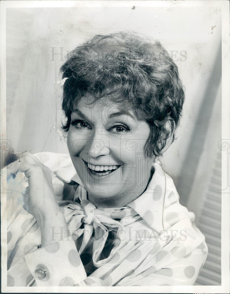 1969 Actress Kay Medford Press Photo - Historic Images