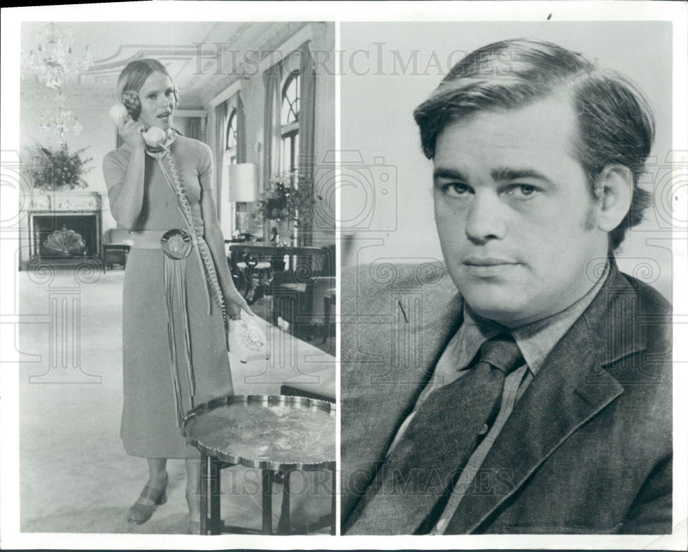 1971 Actors Susan Hogan & Marc Strange Press Photo - Historic Images