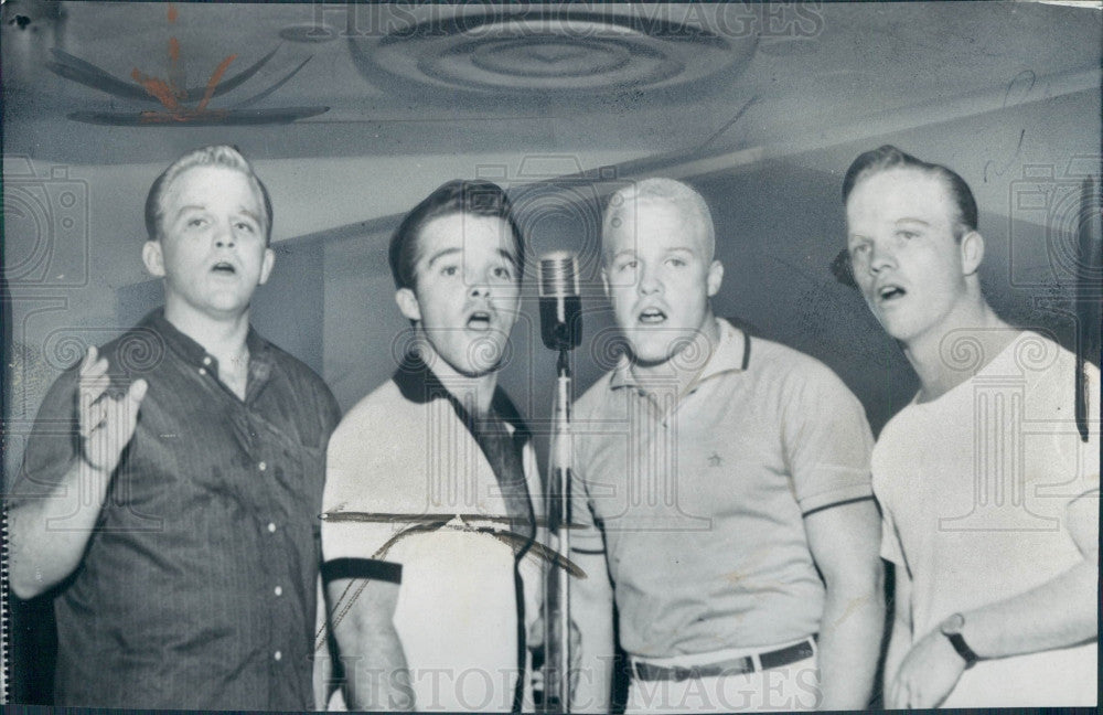 1959 Crosby Brothers Singing Group Press P O Historic Images