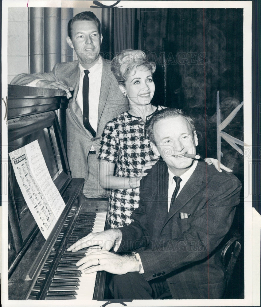 1965 Singers Jane Powel & Jack Haskell Press Photo - Historic Images