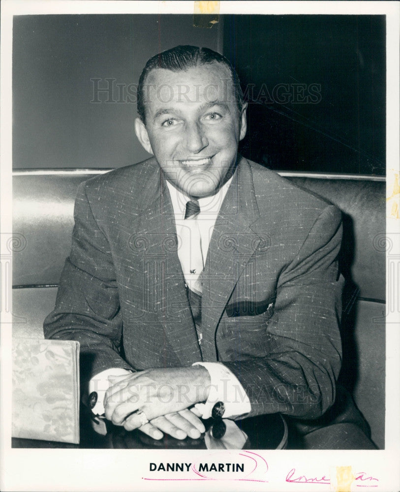 1962 Comedian Danny Martin Press Photo - Historic Images