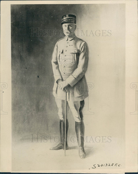 1919 France Marshal Philippe Petain Press Photo - Historic Images