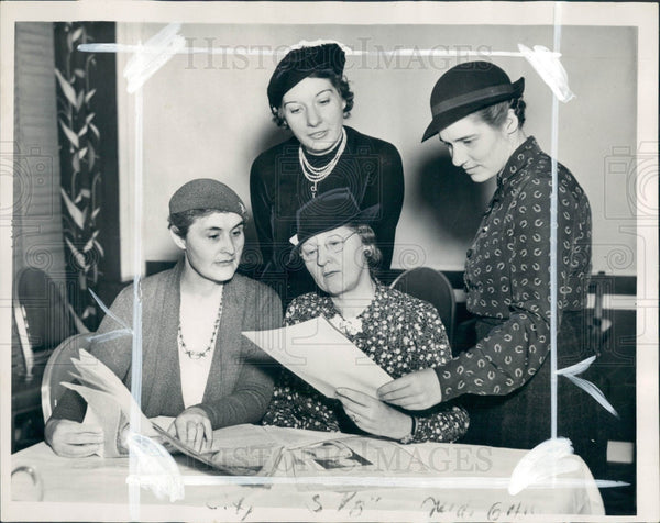 1936 Detroit News Knitting Contest Press Photo - Historic Images
