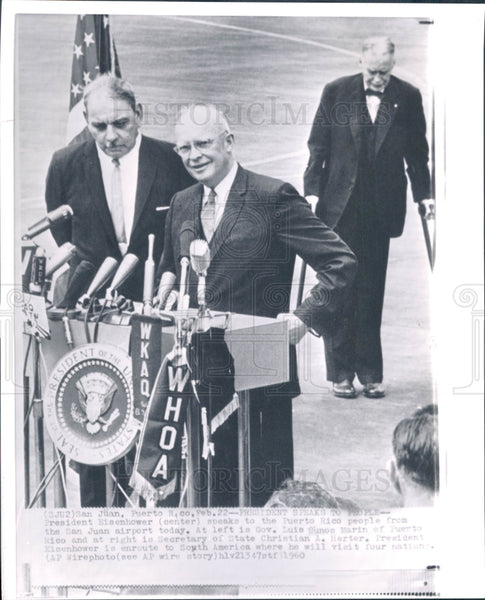 1960 US President Dwight Eisenhower Press Photo - Historic Images