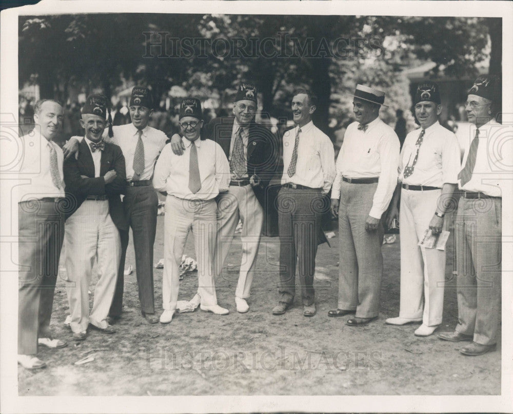 1930 Detroit Shrine Picnic Charles Mabley Press Photo - Historic Images