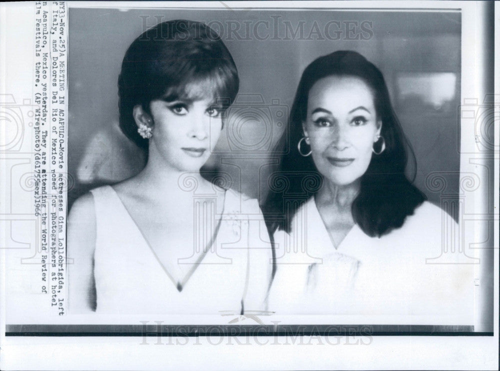 1966 Gina Lollobrigida/Dolores Del Rio Press Photo - Historic Images
