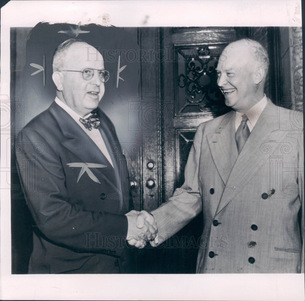 1952 US Pres Eisenhower PA Gov John Fine Press Photo - Historic Images