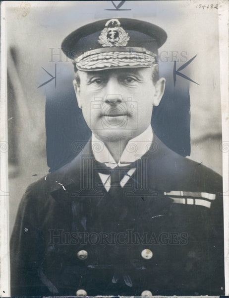 1914 British WWI Navy Admiral John Jellicoe Press Photo - Historic Images