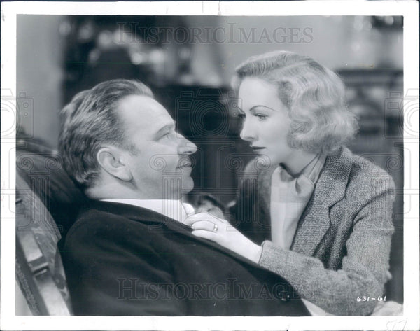 1932 Actors Karen Morley and Wallace Beery Press Photo - Historic Images