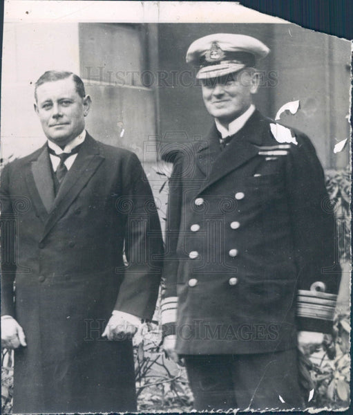 1918 GB Navy Admirals Eric Geddes & Duffy Press Photo - Historic Images