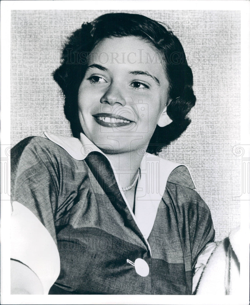 1950 Actress Michele Bridgit Farmer Press Photo