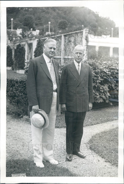 1931 US Pres Hoover & AT&T Pres Gifford Press Photo - Historic Images