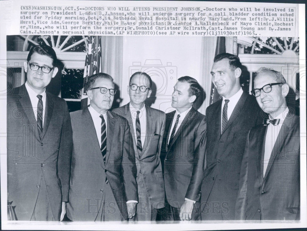 1965 US President Lyndon Johnson's Doctors Press Photo - Historic Images