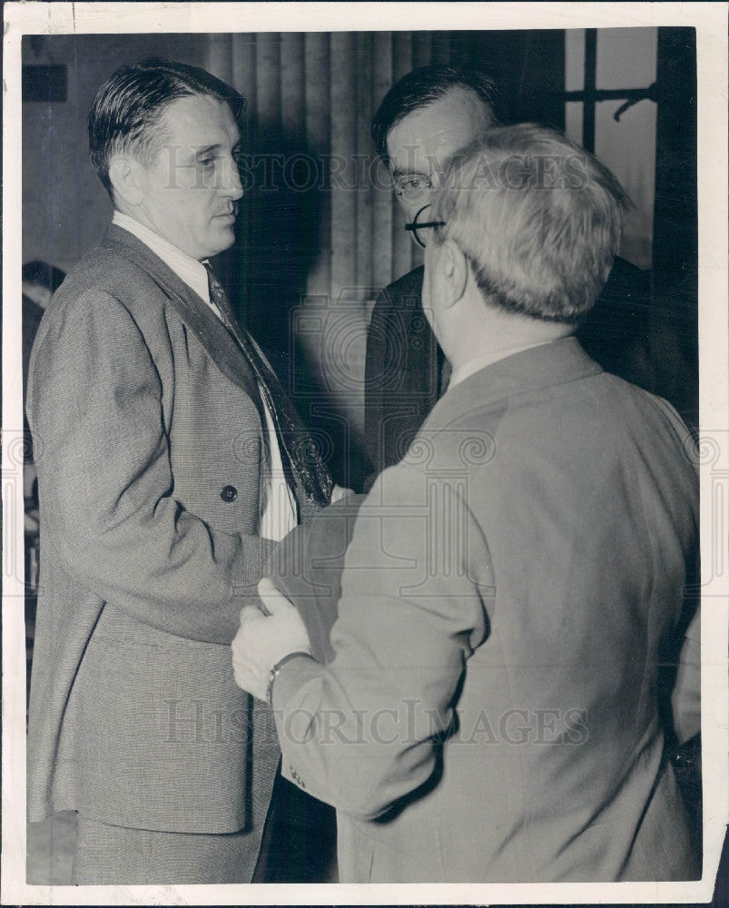 1942 Chicago Judge F Borrrelli & Son Bruce Press Photo - Historic Images
