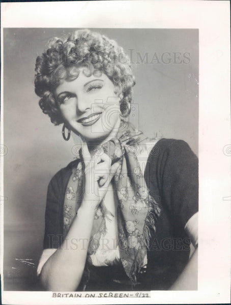 1935 Actress anna Neagle Press Photo - Historic Images