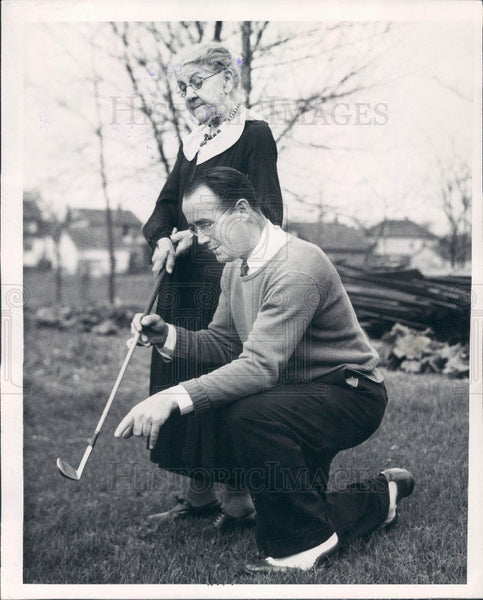 1936 Detroit Golf Instructor Jim Beaupre Press Photo - Historic Images