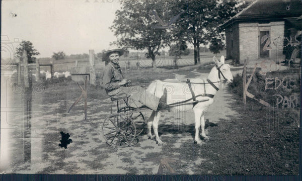 1924 Trained Billy Goat Press Photo - Historic Images