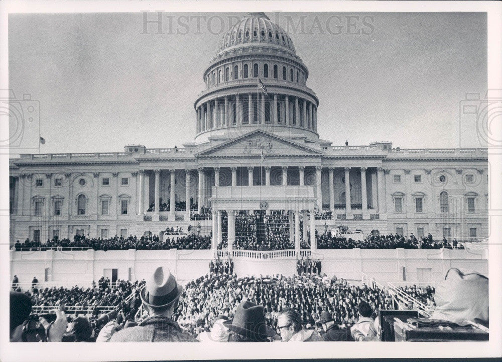 1965 US President Johnson Inauguration Press Photo - Historic Images
