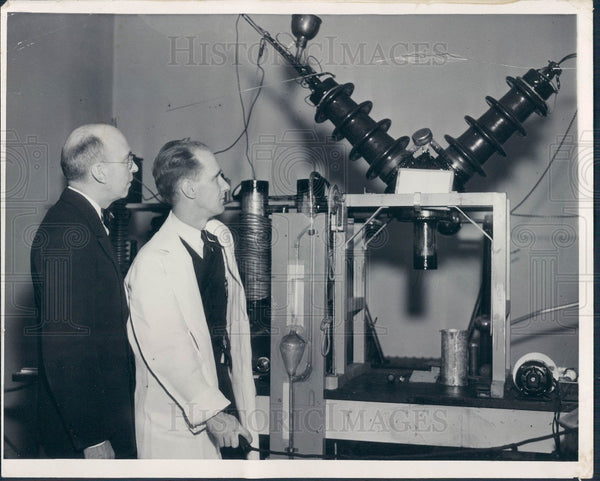 1936 Detroit MI Harper Hosp Cancer Xray Press Photo - Historic Images