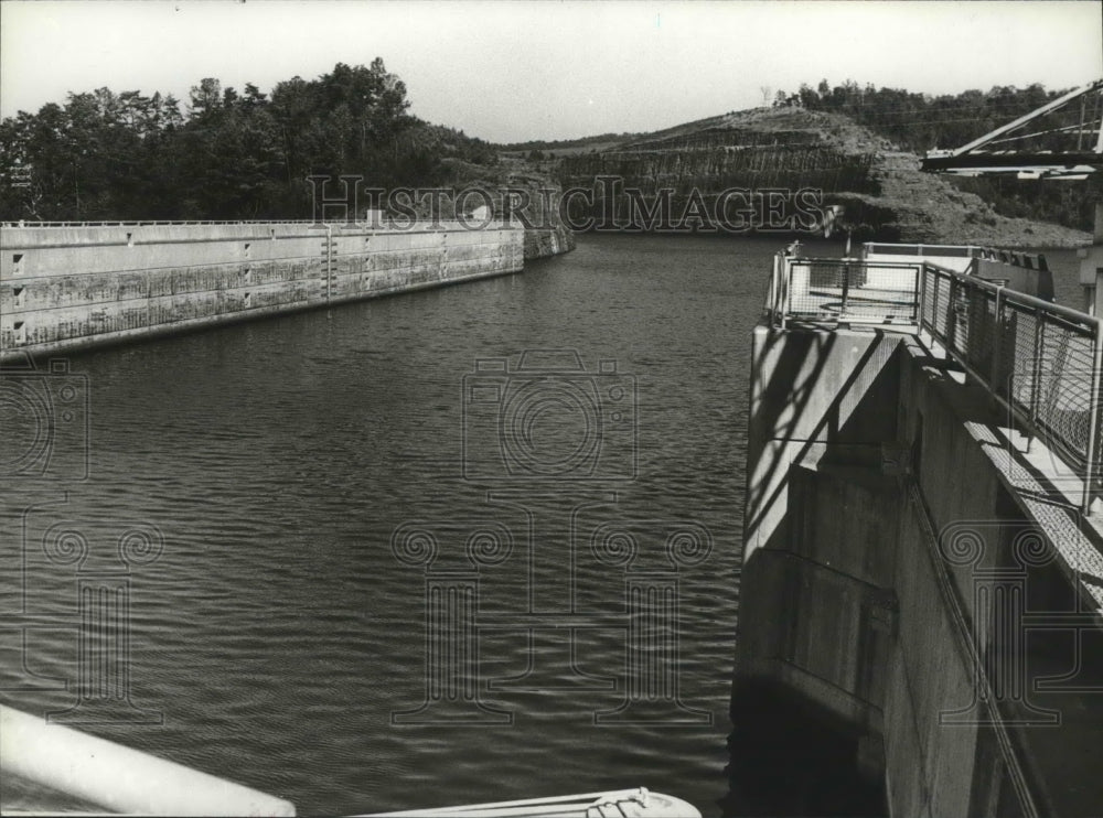 1978 Press Photo All Quiet at Bankhead Lock 17 in Alabama - abna07469 - Historic Images