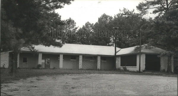 1980 Press Photo abandoned Shelco fire station in Shelby County, Alabama - Historic Images