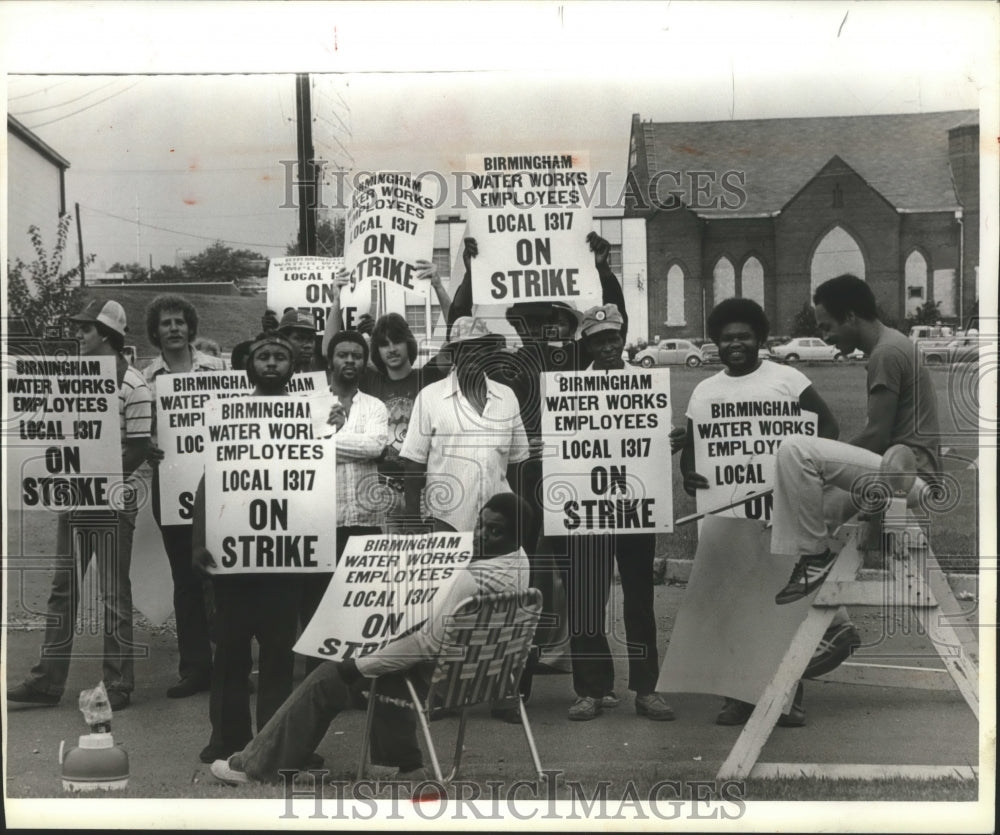 1979 Press Photo Birmingham Water Works employees strike - abna12478 - Historic Images