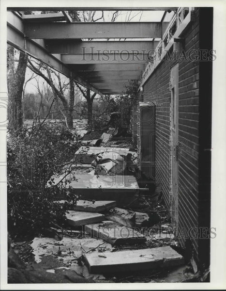 1981, Tornado Damage at Home in Bay Minette, Alabama - abna40320 - Historic Images
