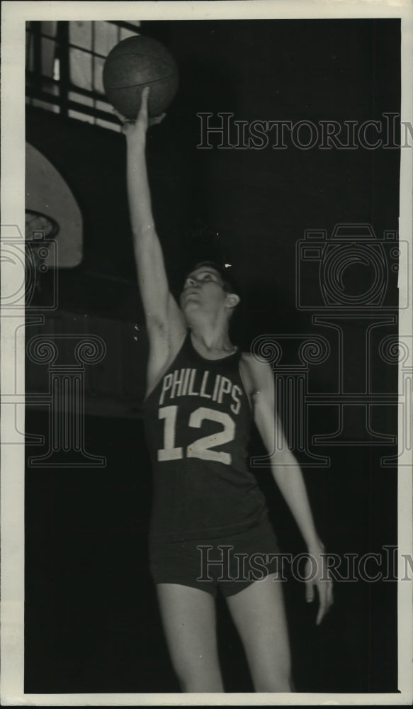 1943 Bear Creek Alabama Phillips High Basketball Player Alex Grammas - Historic Images
