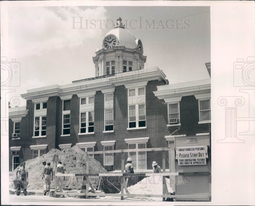 Undated Pasco County Florida Courthouse Expansion Dade City Press Photo - Historic Images