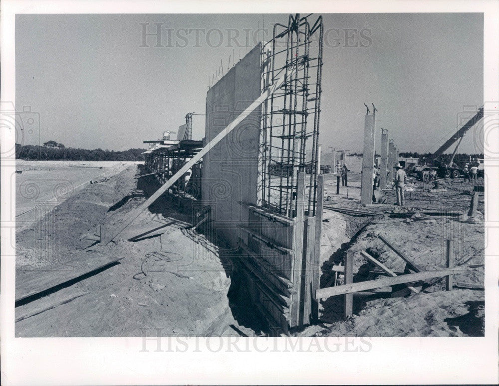 1979 Pasco County Florida Jail Construction Moon Lake Road Press Photo - Historic Images