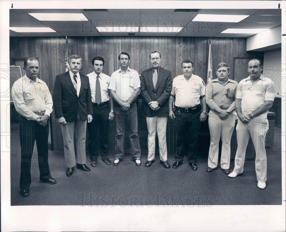 1977 Pasco County Florida Sheriff's Deputies Press Photo - Historic Images