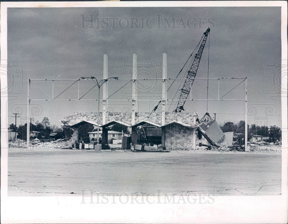 1971 Tampa Florida Zayre Discount Store Burned Gandy Blvd Press Photo - Historic Images