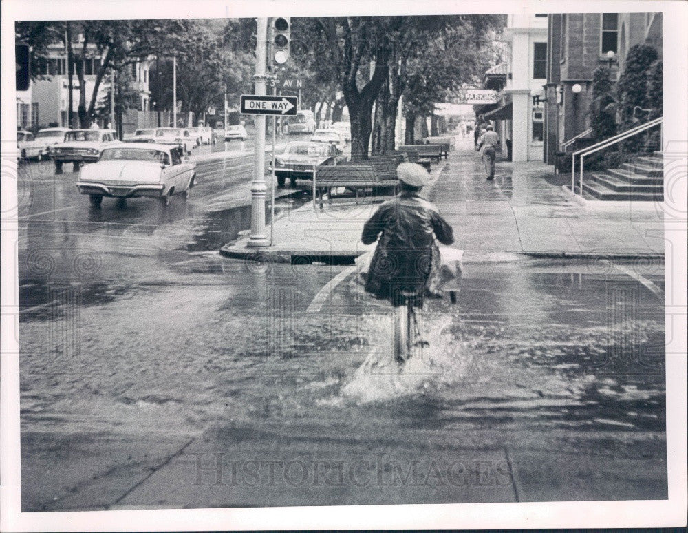 1964 St Petersburg Florida 3rd Avenue North Flood Press Photo - Historic Images
