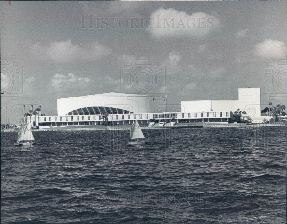 1974 St Petersburg Florida Bayfront Center Press Photo - Historic Images