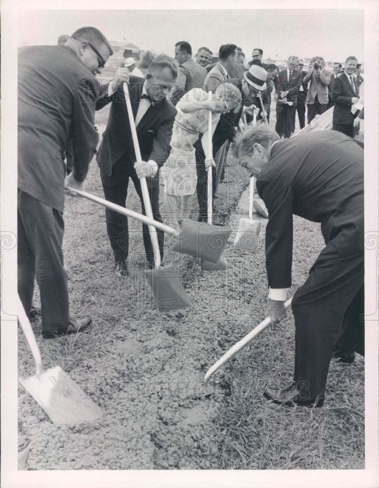 1963 St Petersburg Florida Bayfront Center Ground Breaking Press Photo - Historic Images