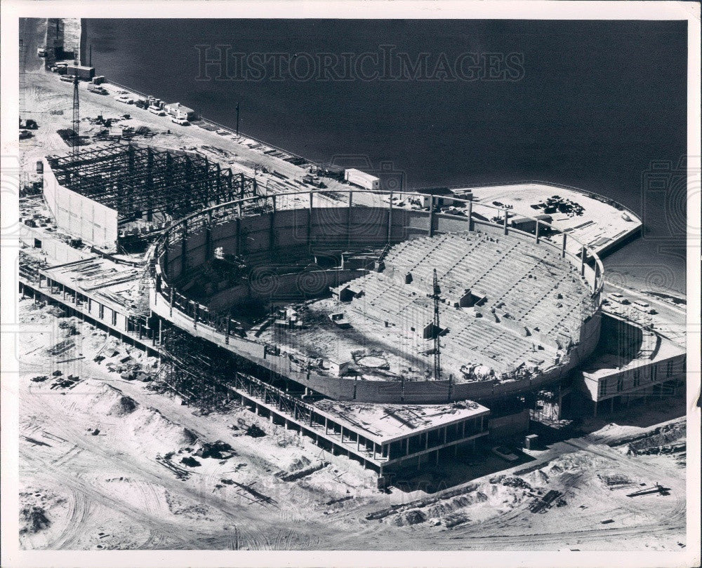 1964 St Petersburg Florida Bayfront Center Construction Press Photo - Historic Images