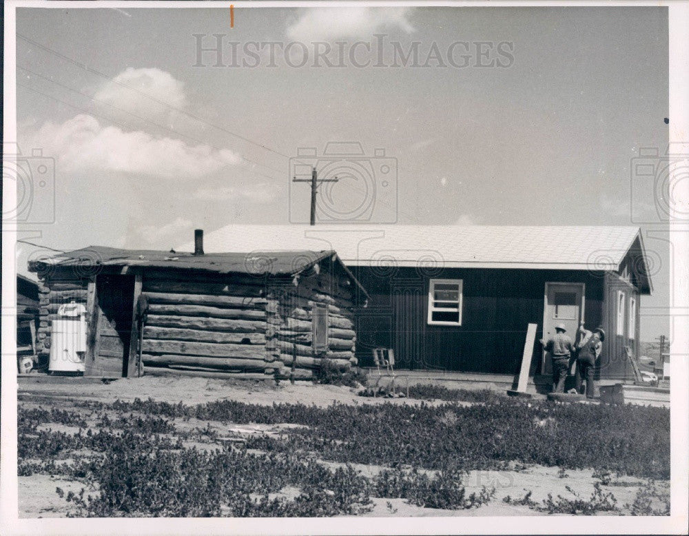 1965 Busby Montana Tongue River Reservation of Northern Cheyennes Press Photo - Historic Images