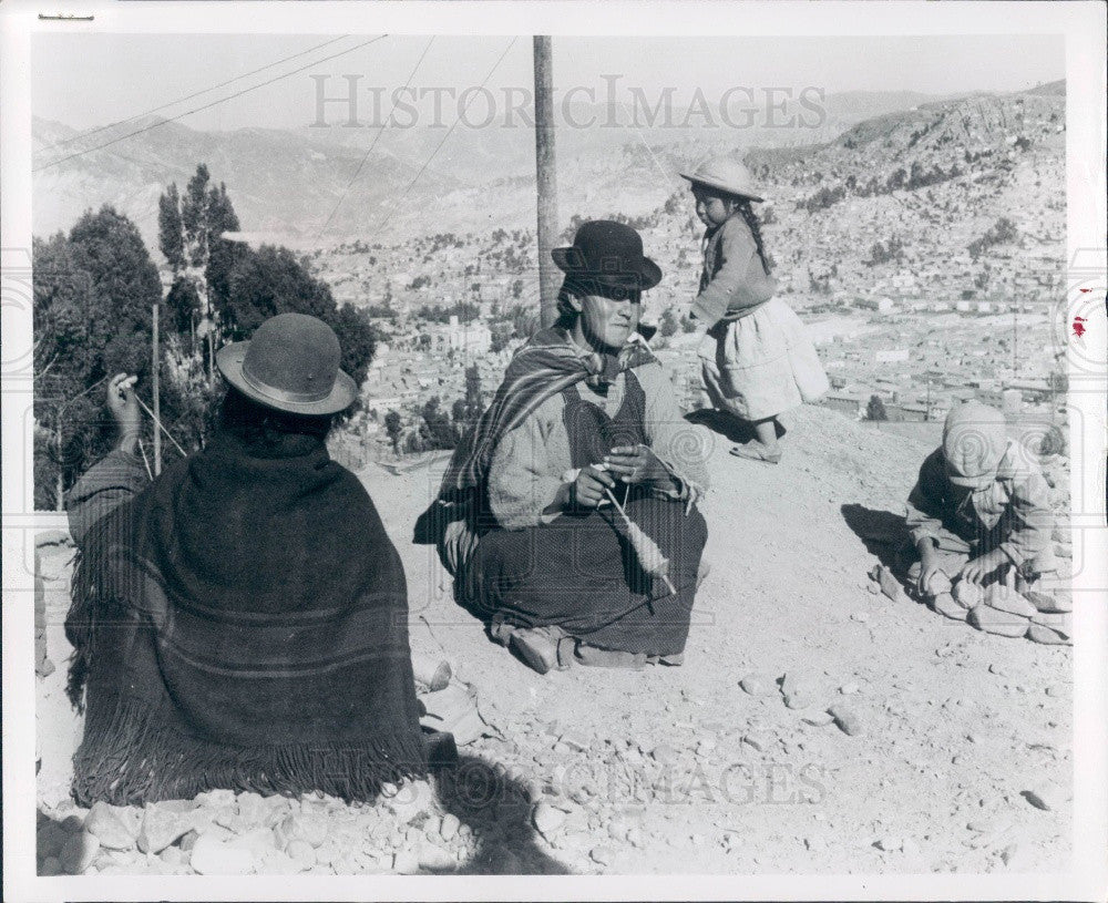 1966 La Paz Bolivia Andes Mountains Indians Press Photo - Historic Images