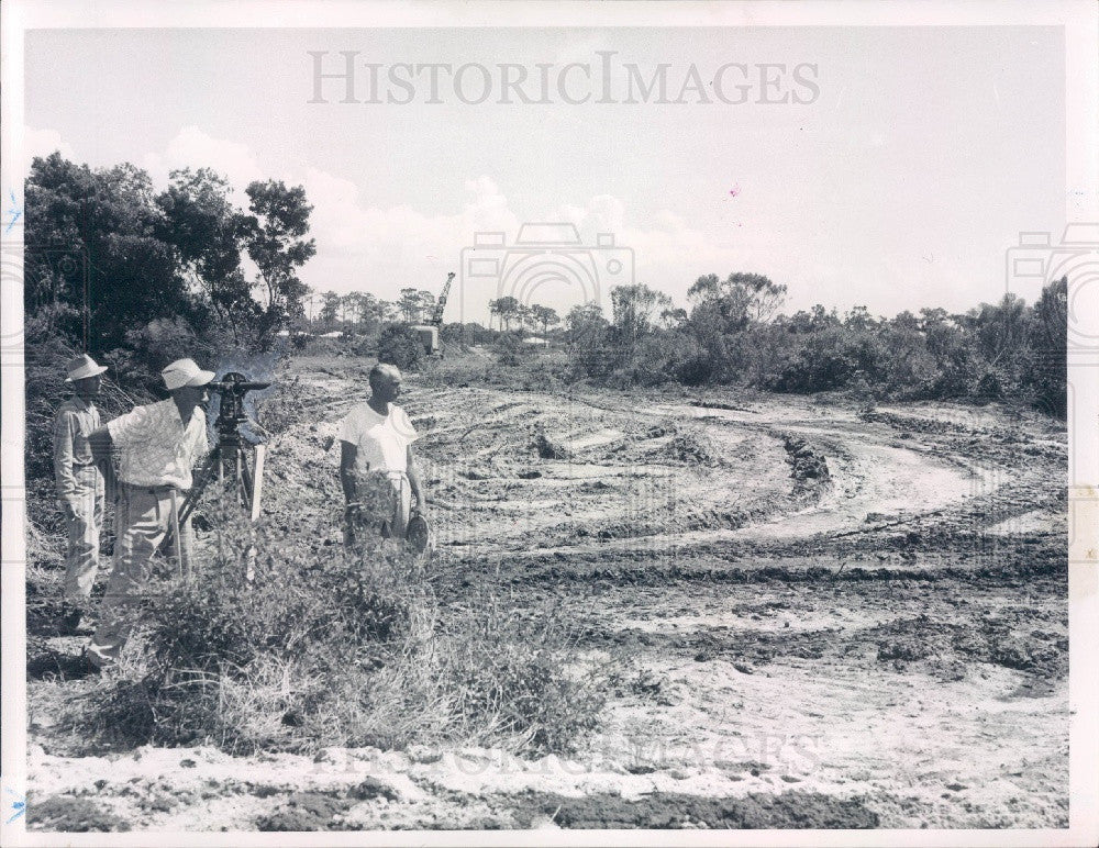 1957 Clearwater Florida Municipal Industrial Park Land Clearing Press Photo - Historic Images