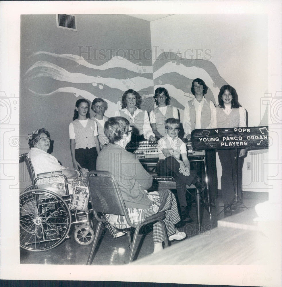 1978 Florida Young Pasco Organ Players Press Photo - Historic Images
