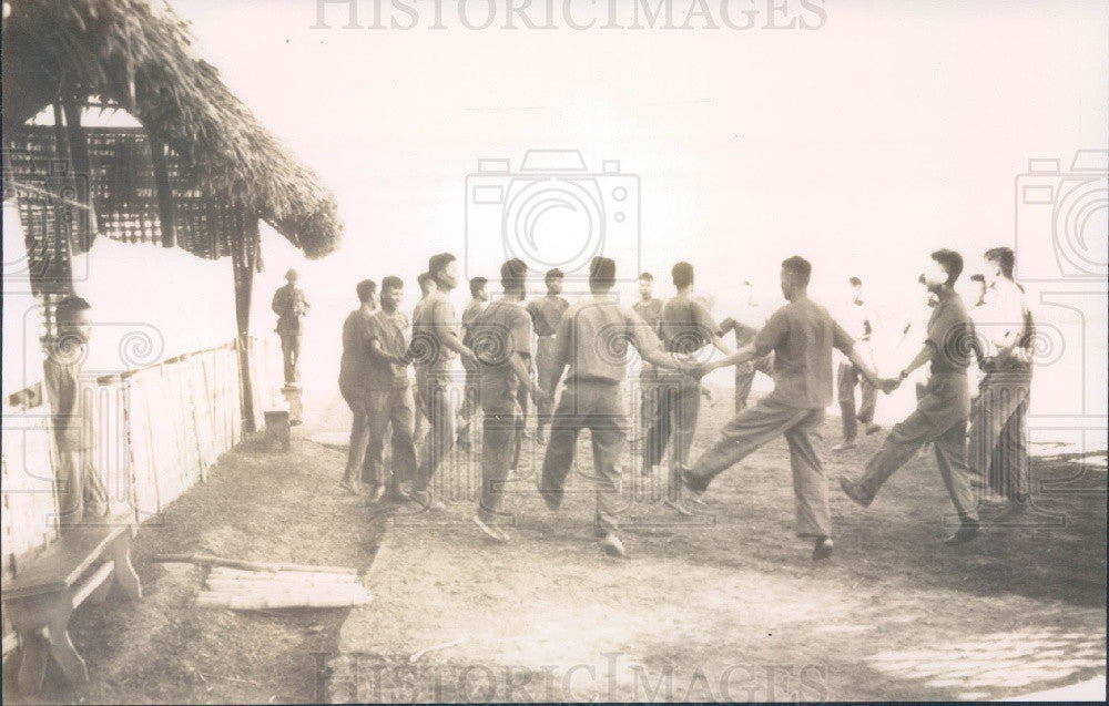 1950's Indochina Vietminh Guards at Trung Gia Press Photo - Historic Images