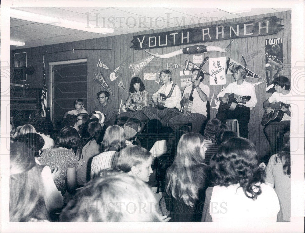 1972 St. Petersburg Florida Youth Ranch & Director Mels Carbonell Press Photo - Historic Images