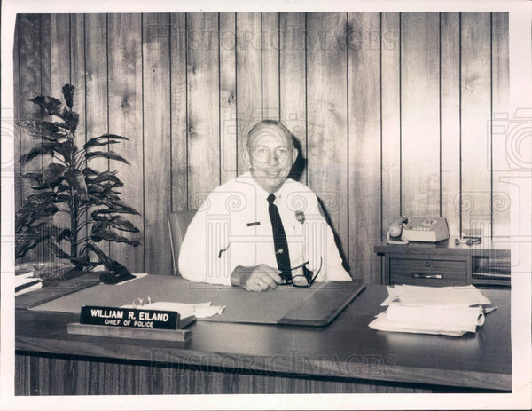 1973 Zephyrhills Florida Police Chief Bill Eiland Press Photo - Historic Images