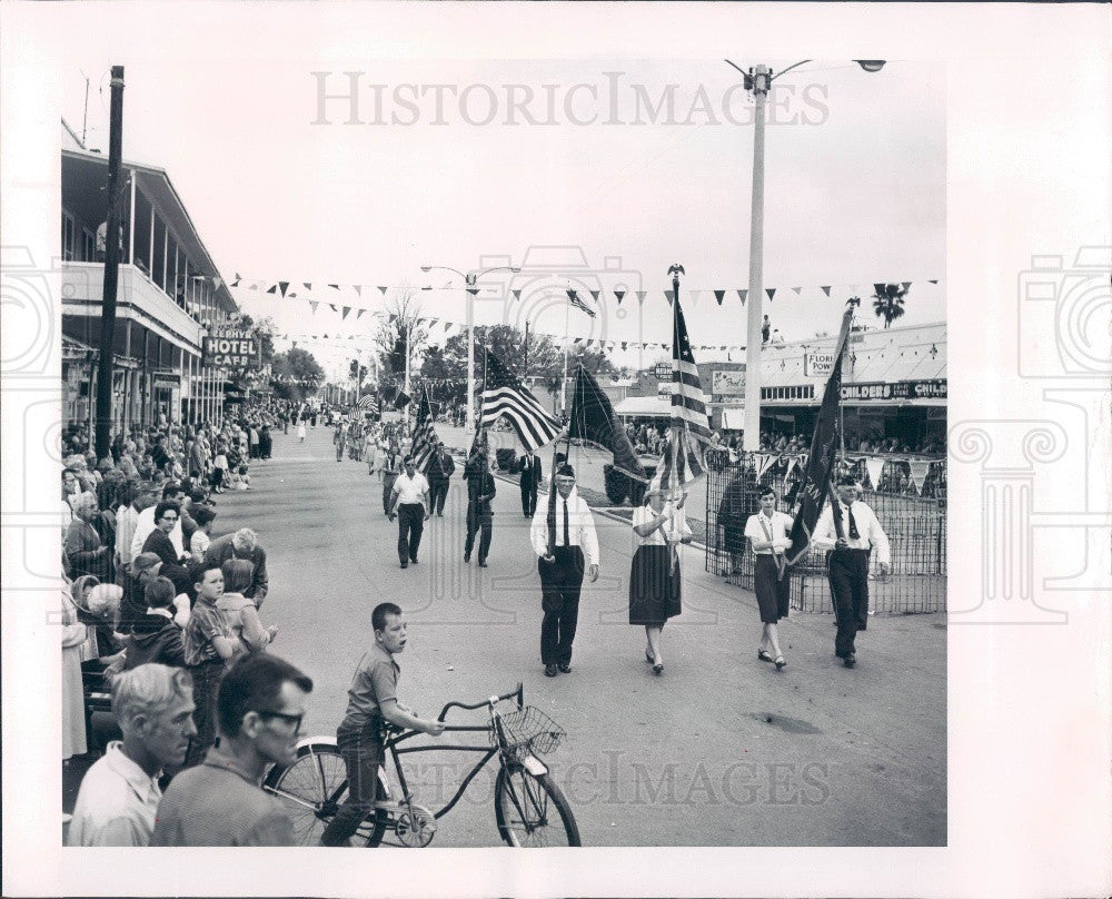 1964 Zephyrhills Florida Founders Day Parade Press Photo - Historic Images