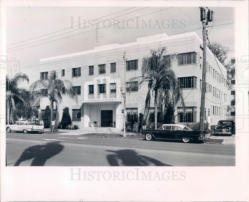 1963 St Petersburg Florida Bond Hotel Press Photo - Historic Images