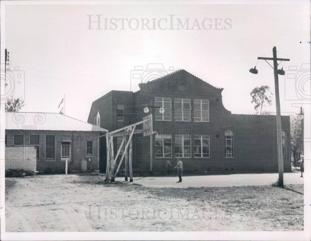1956 St Petersburg Florida School Playground Press Photo - Historic Images