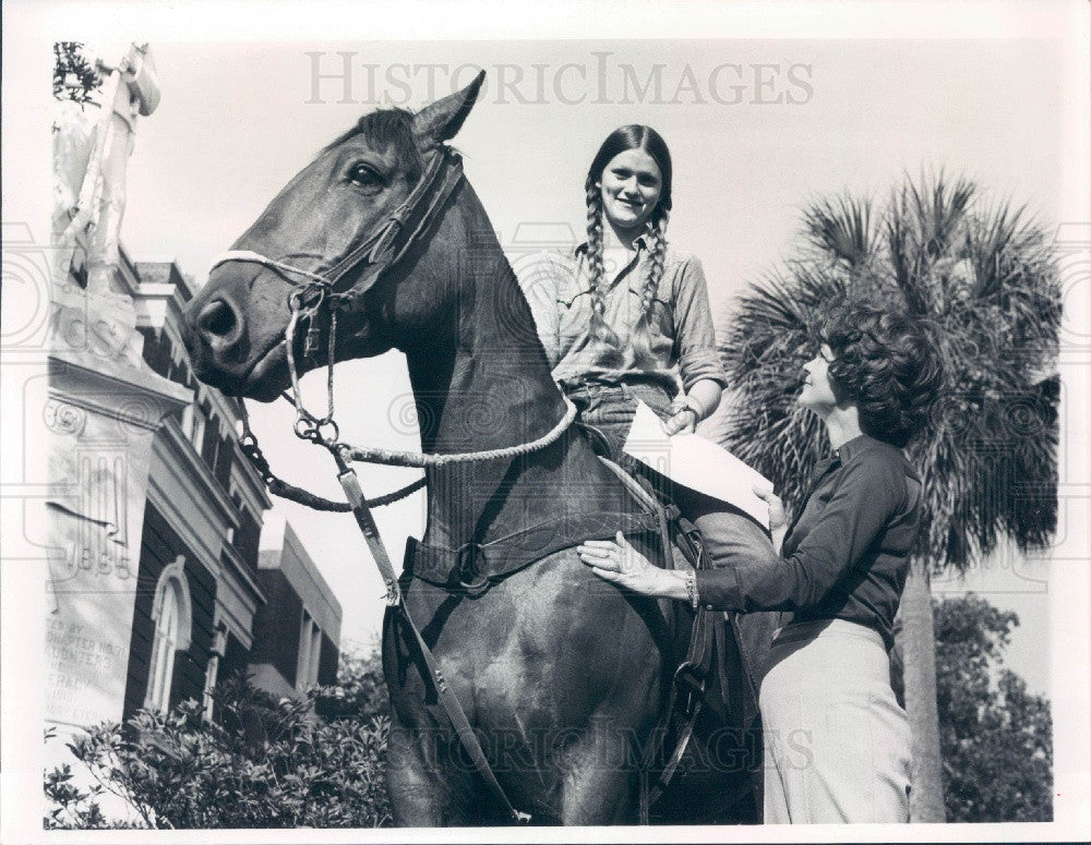 1976 Brooksville Florida Pony Express Used on Founder's Day Press Photo - Historic Images