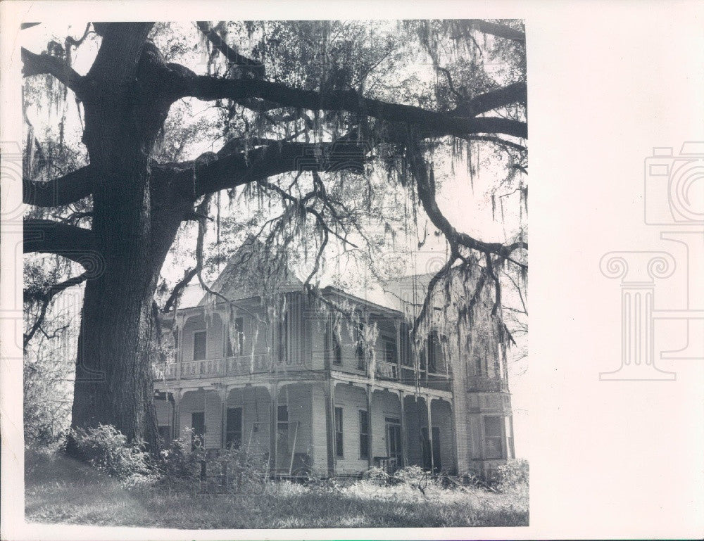 1971 Brooksville Florida Varn Place Built in 1870's or 1880's Press Photo - Historic Images