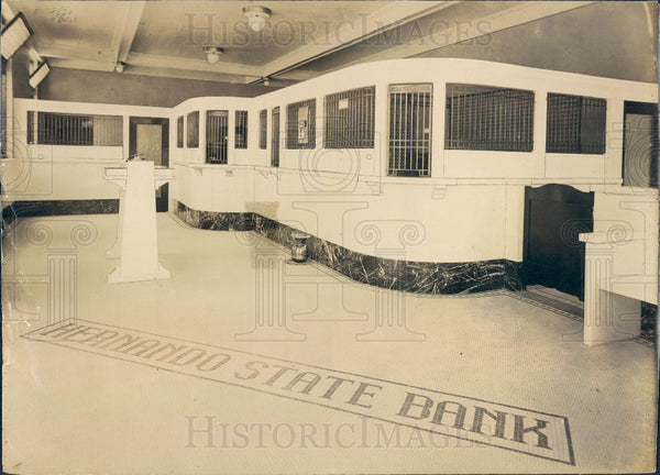 1926 Brooksville Florida Hernando State Bank Press Photo - Historic Images